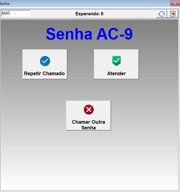 Tela chamada TV MAM Senha | Sistemas para Laboratórios de Análises Clínicas